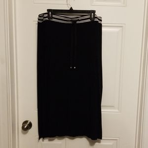 Black cotton skirt with tie